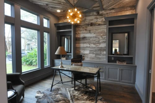 rustic home office ideas. Rustic Home Office With Hardwood Floor And Chandelier.Photo By Showhomes Houston - Discover Design Ideas Stratosphere
