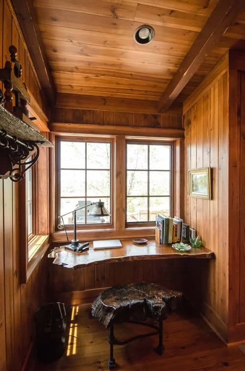 rustic home office ideas. Rustic Home Office With Hardwood Floors And Ceiling.Photo By Matheny Goldmon Architects - Discover Design Inspiration Ideas A