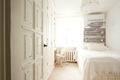 Shabby Chic Master Bedroom With White WallsPhoto By