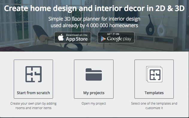 Screenshot of free 3D interior and home design software