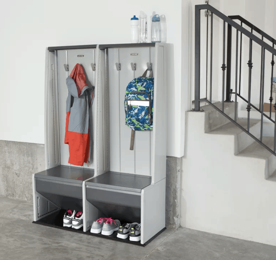 Kids hall tree for storing coats and shoes