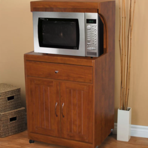 Microwave cart is an alternative to placing your countertop microwave on the counter