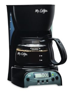 4-cup miniature coffee maker by Mr. Coffee