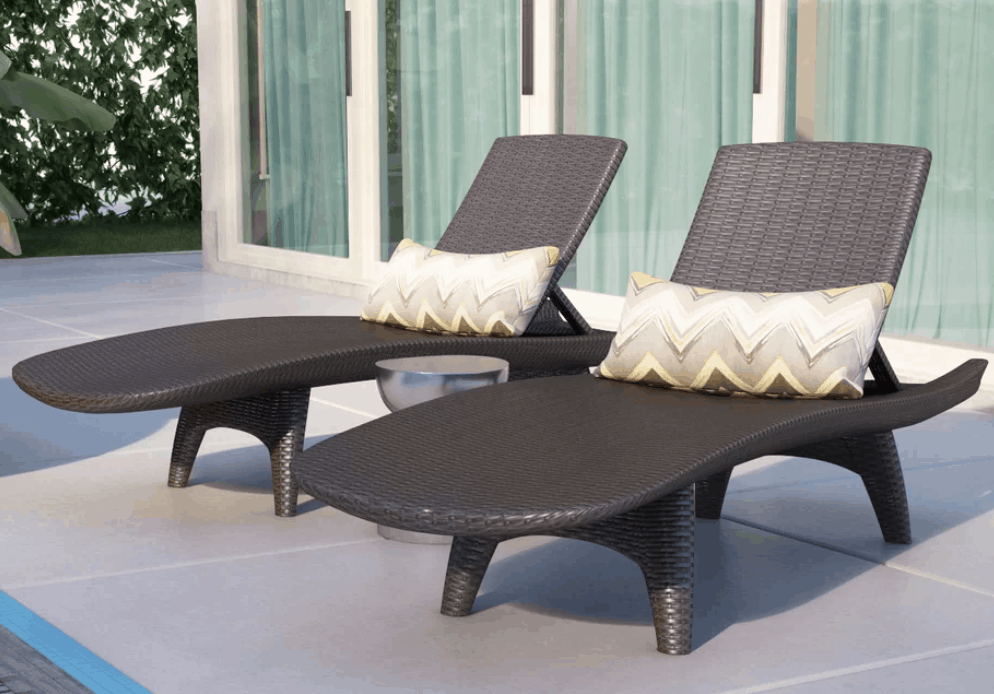 Chaise lounge chairs types of chairs for your for Chaise cushions cheap