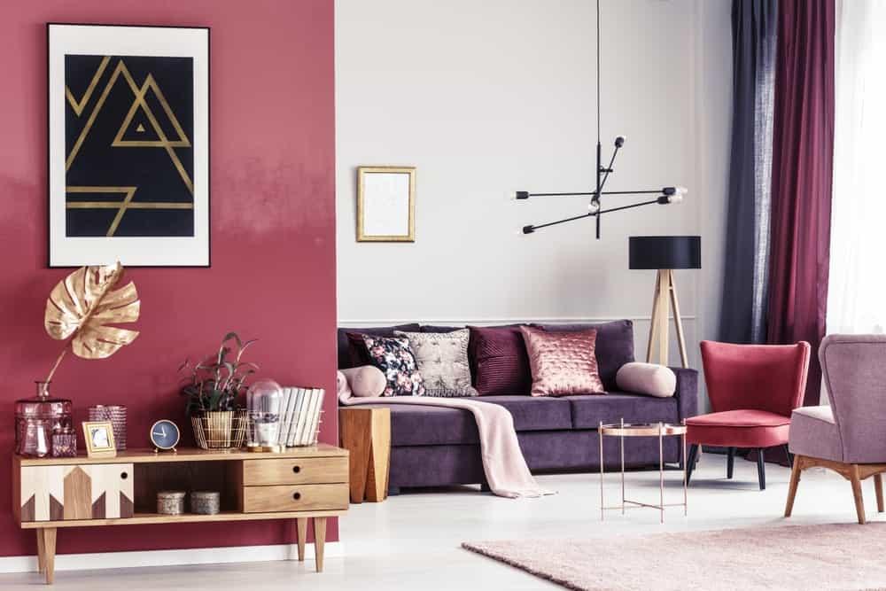 35 Purple Living Room Ideas Photos, Purple Living Room