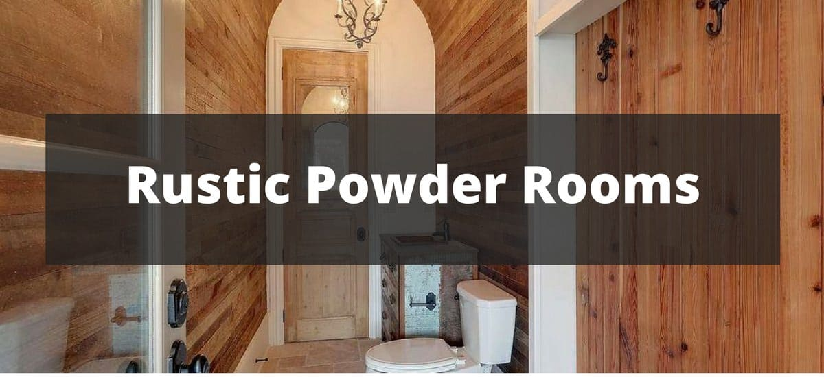 25 Rustic Powder Room Ideas for 2018