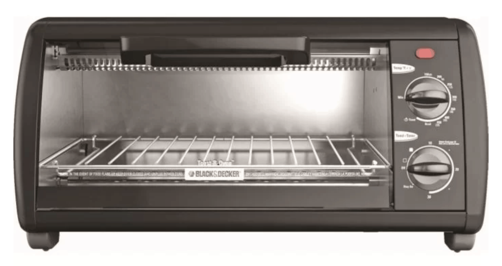 Sleek Black & Decker toaster oven in black