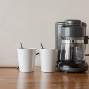 Small coffee maker with two cups