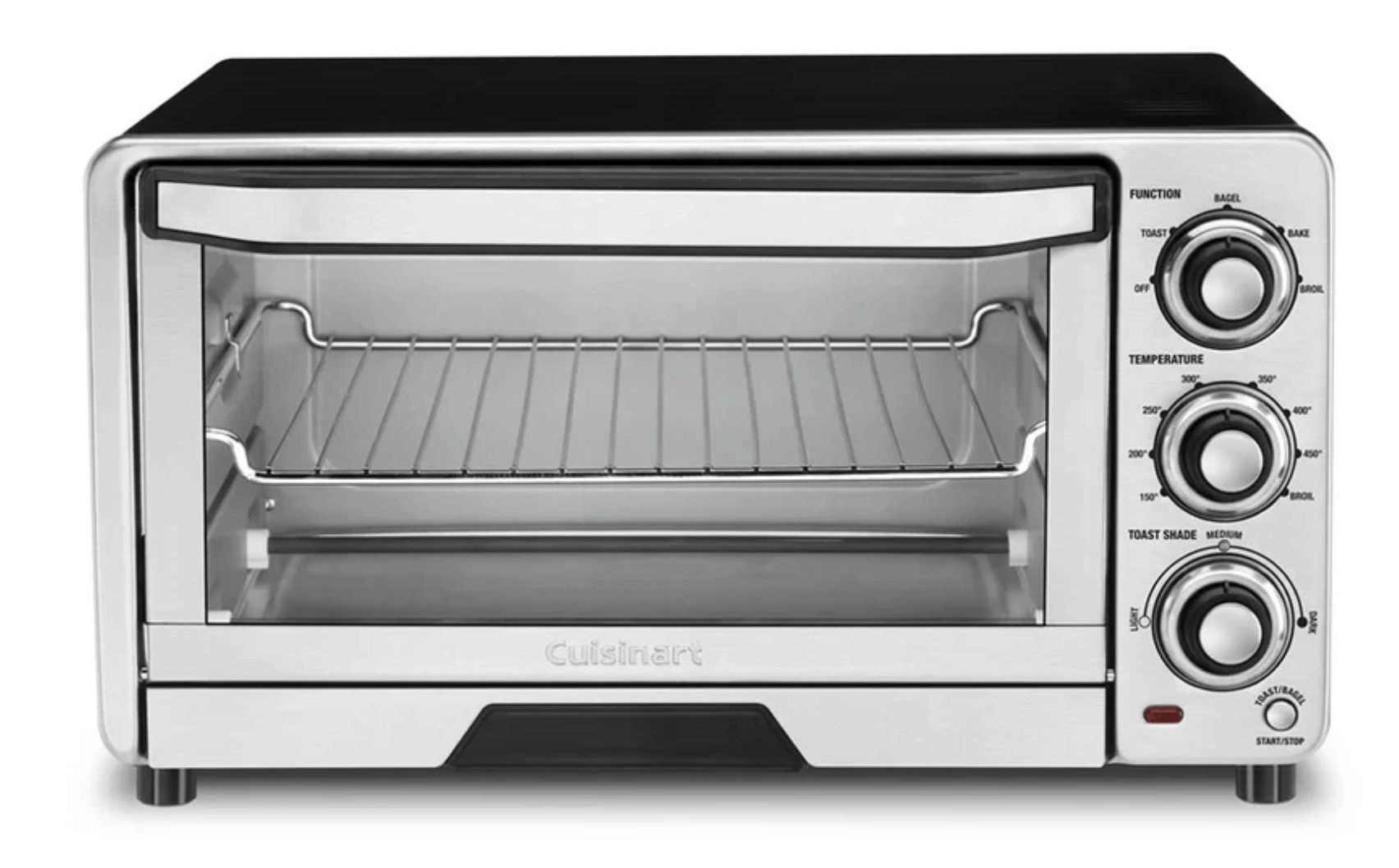 Small stainless steel toaster oven by Cuisinart