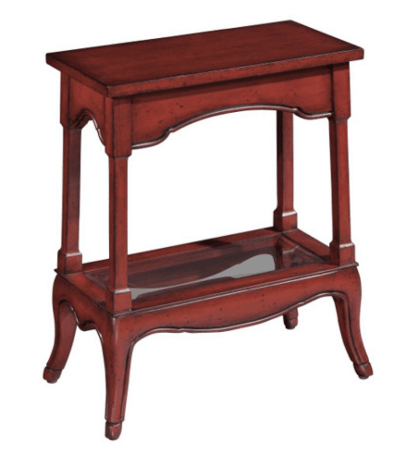 Compact rectangle accent table.