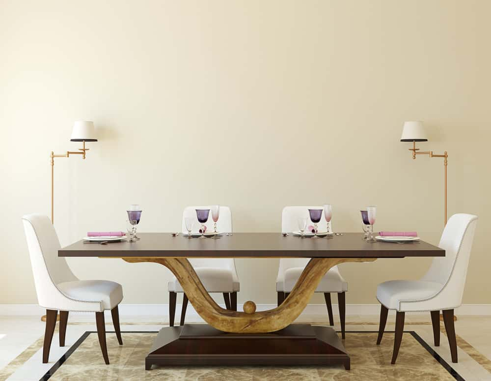 Custom Modern Pedestal Base Dining Room Table
