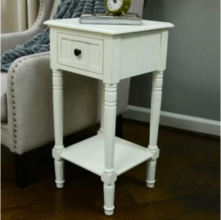 The Andover Mills Adaline End Table is sturdy and narrow enough for small areas.