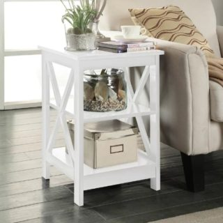 Easy to install and compact Beachcrest Home Stoneford End Table.