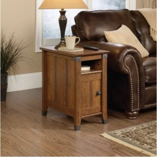 Loon Peak Newdale End Table with protective finish on the legs.