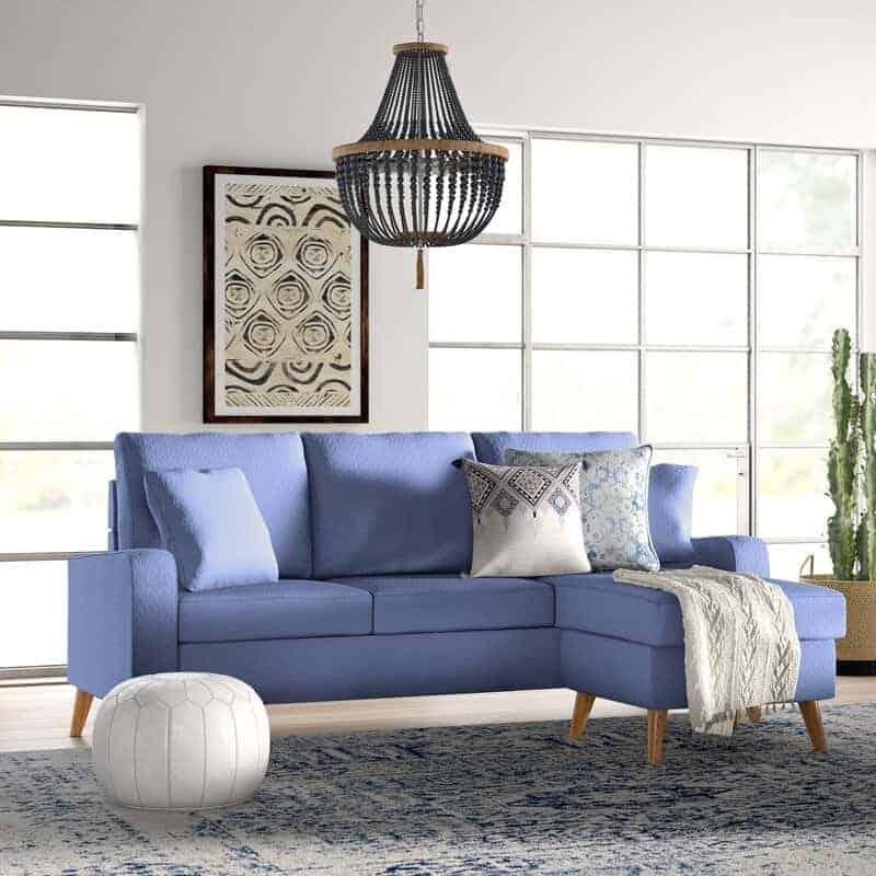 The Shaina Linen Reversible Modular Sofa from Wayfair.