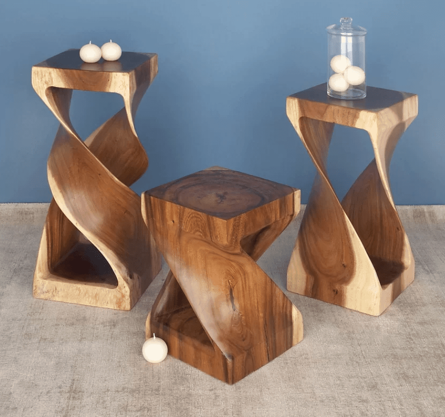 Custom Small Wood Accent Table