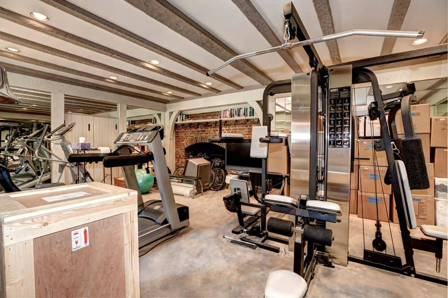 home gym interior design. Traditional home gym with tiled floor and ceiling fan Source  Zillow Digs 44 Home Gym Design Ideas for 2017