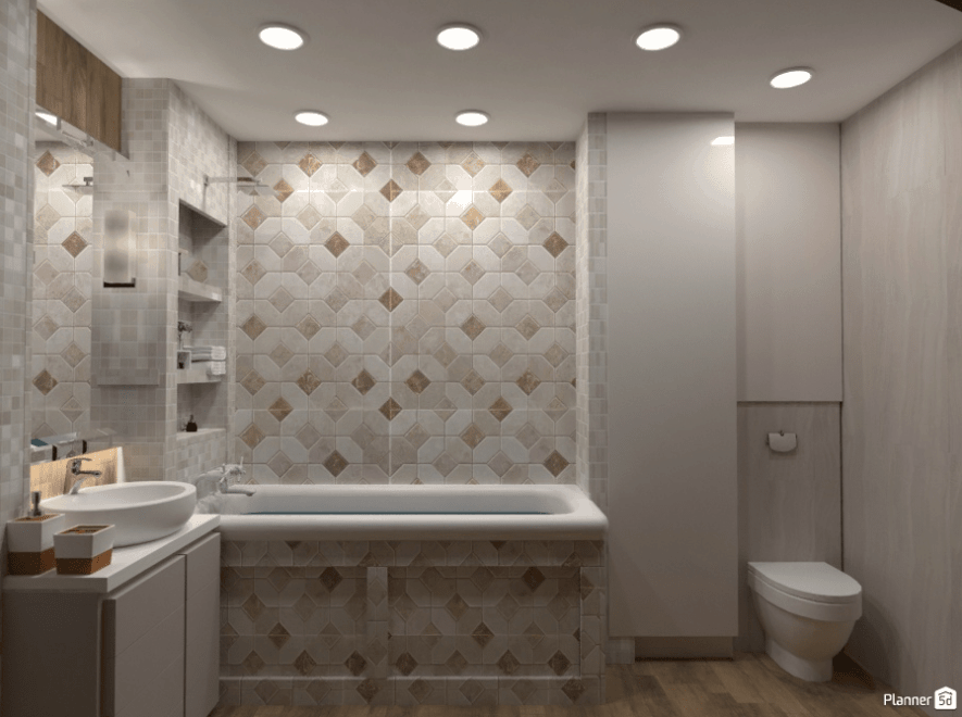 Bathroom 3D design with Planner5D