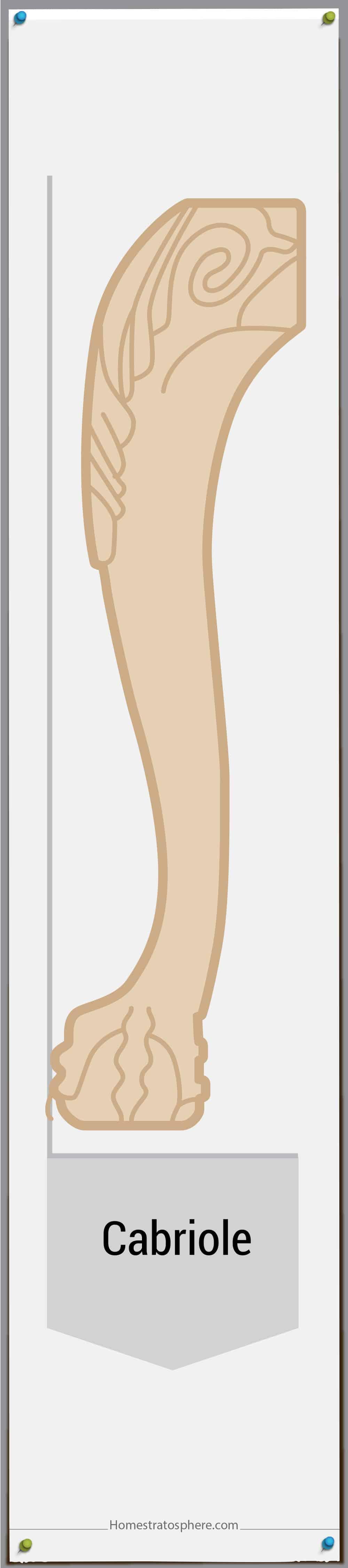 Cabriole leg style 3