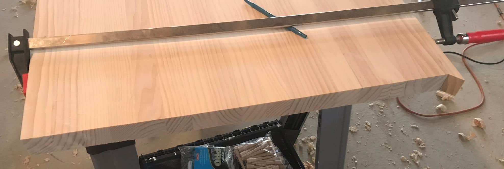 Adding a border to standing table desk