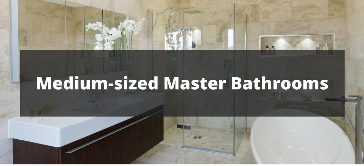 470 medium sized master bathroom ideas for 2018 for Master bathroom 2018