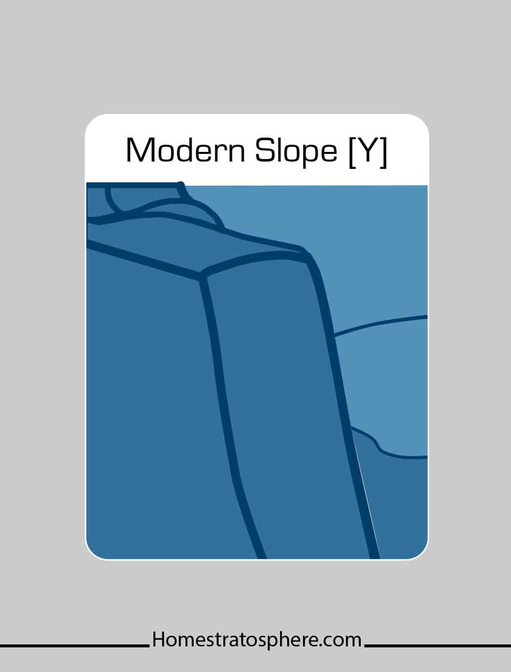Modern slope couch arm style