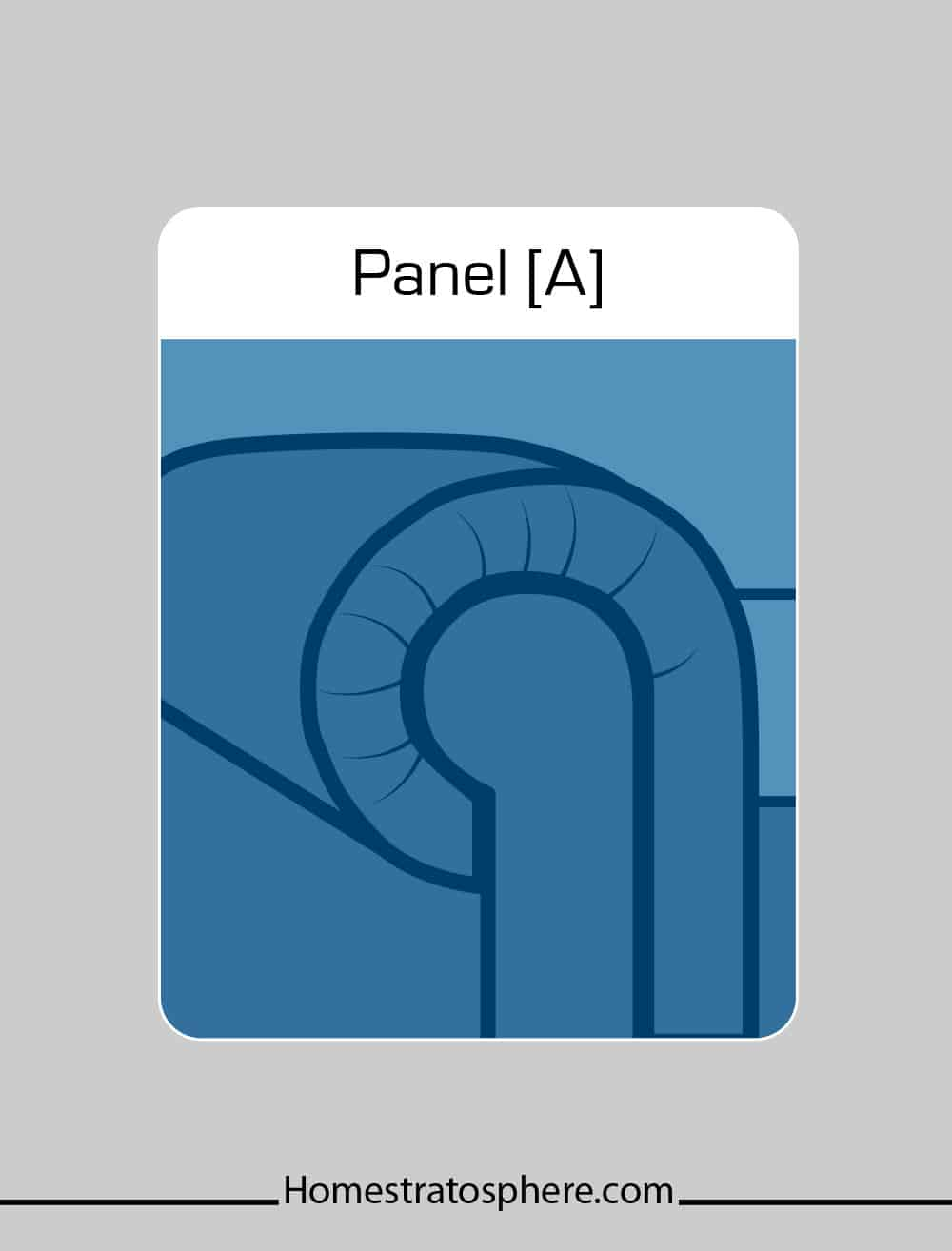 Panel sofa arm style