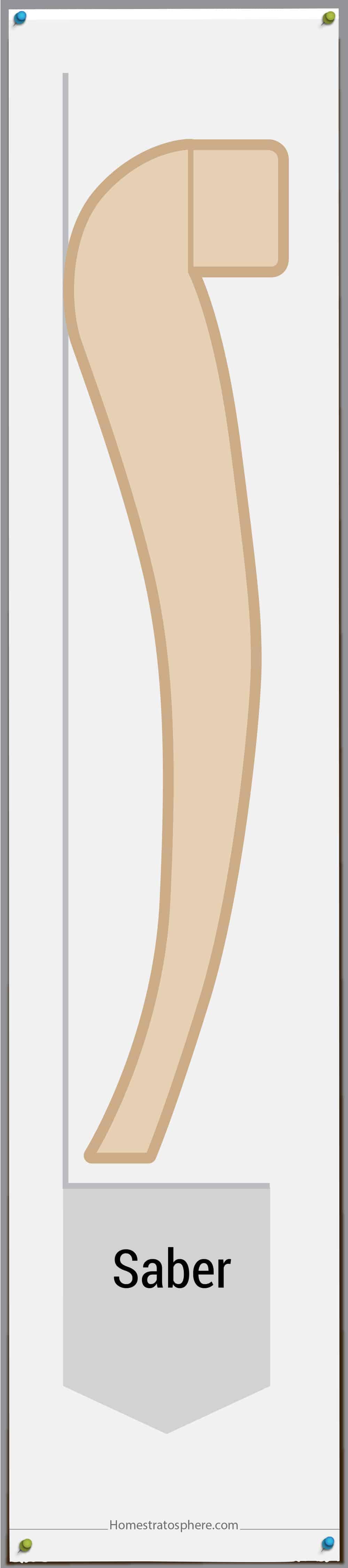 saber furniture leg style