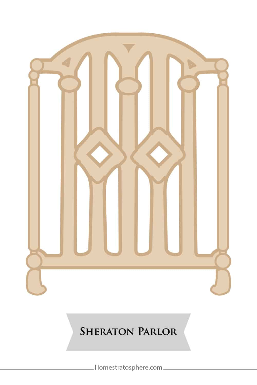 Sheraton Parlor chair back