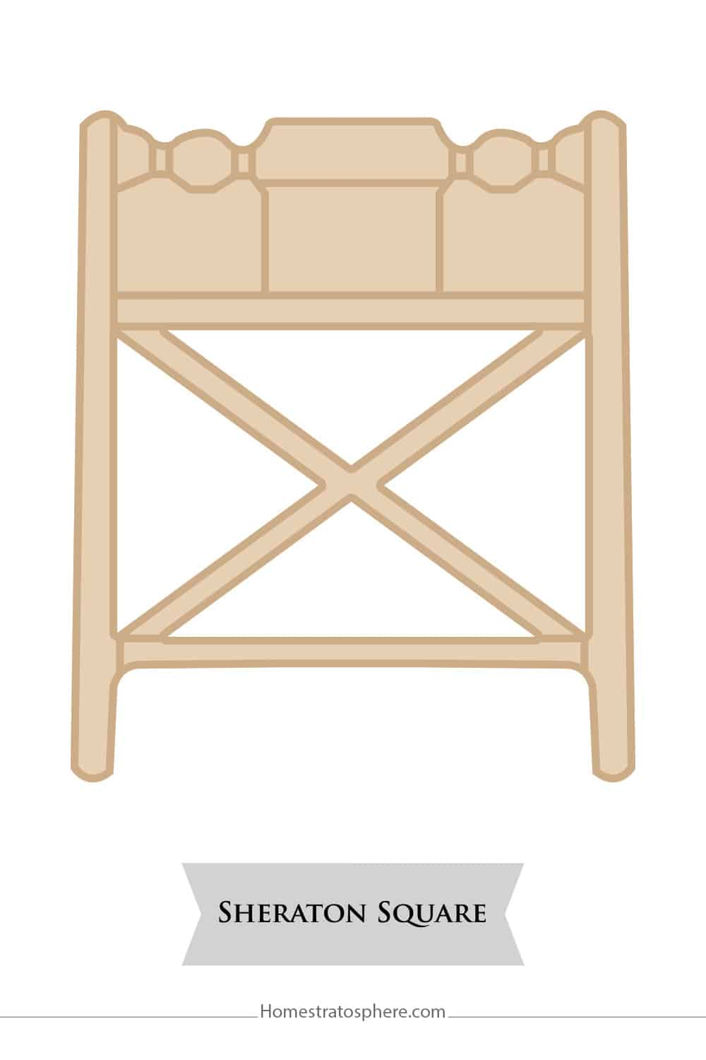 Sheraton Square chair back style