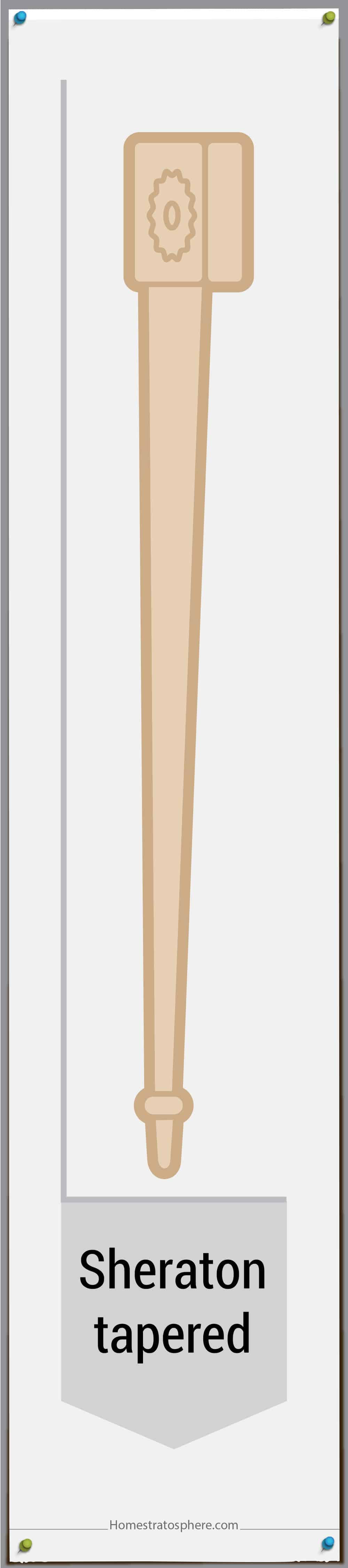 Sheraton Tapered furniture leg style