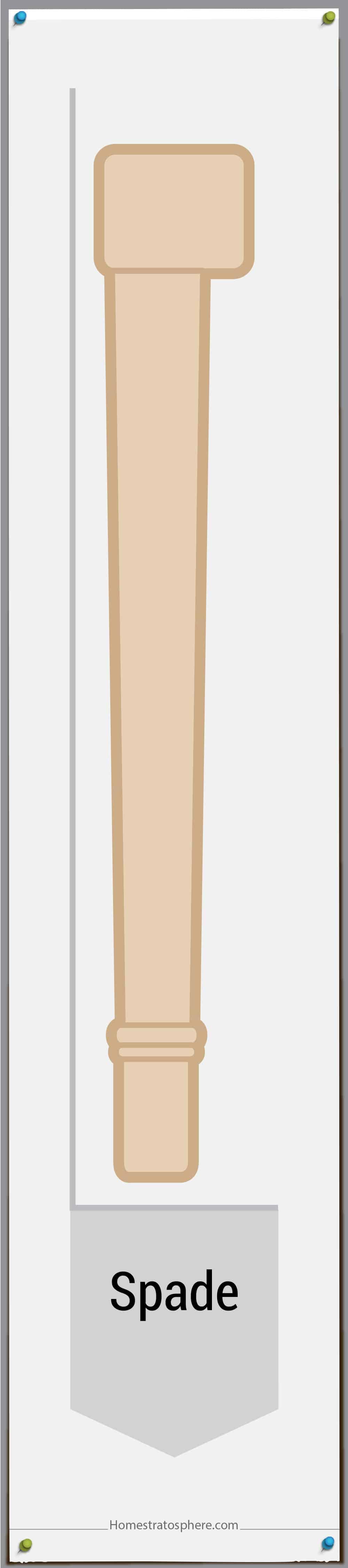 Spade leg style