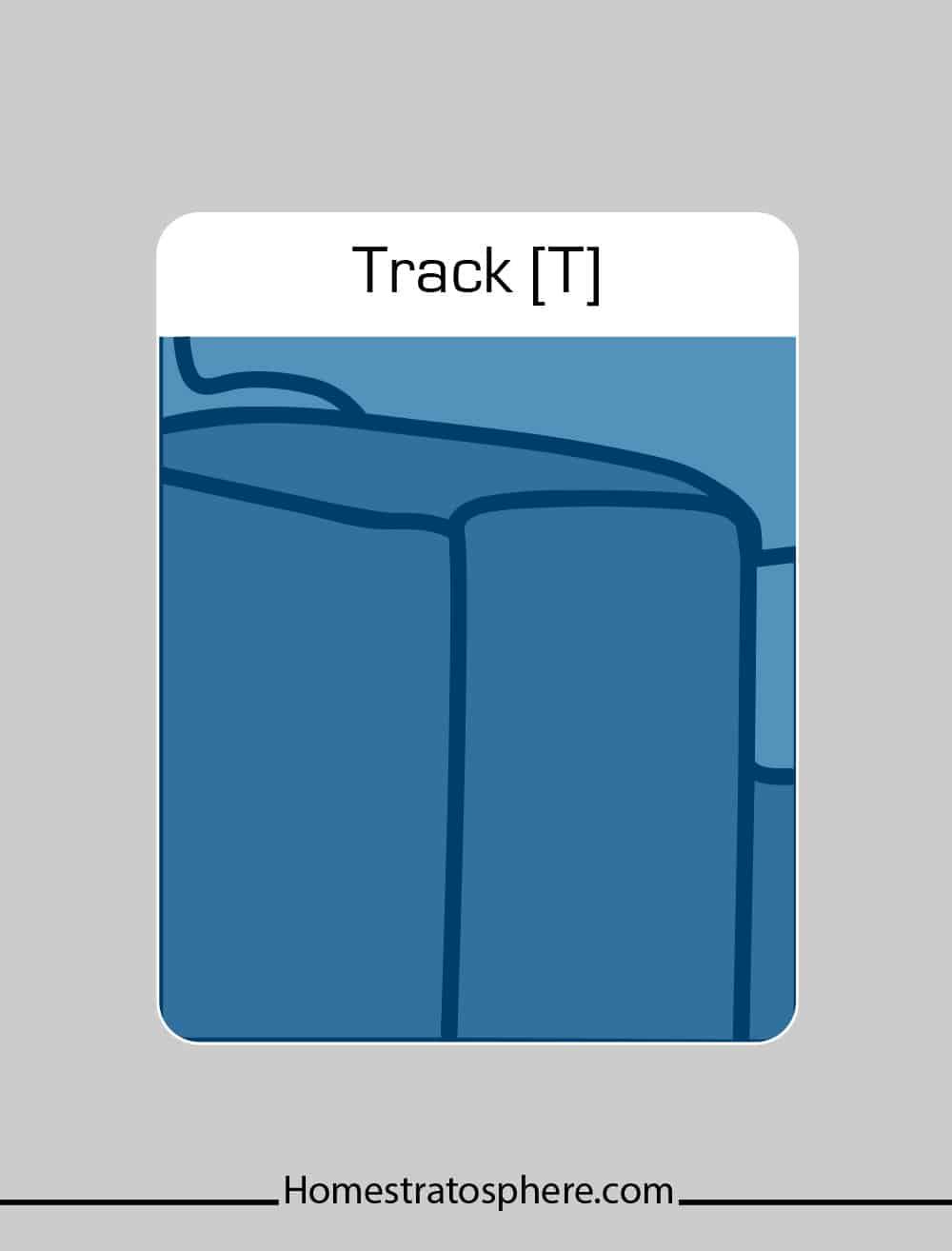 Track sofa arm style