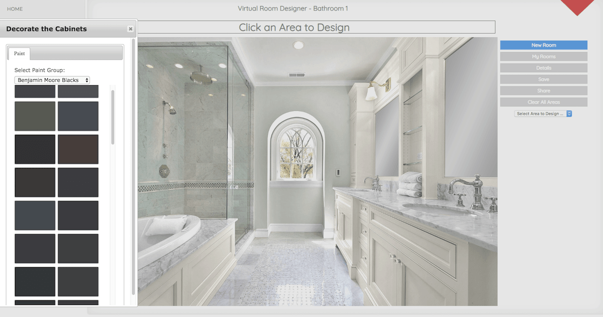 Very cool bathroom visualizer design software