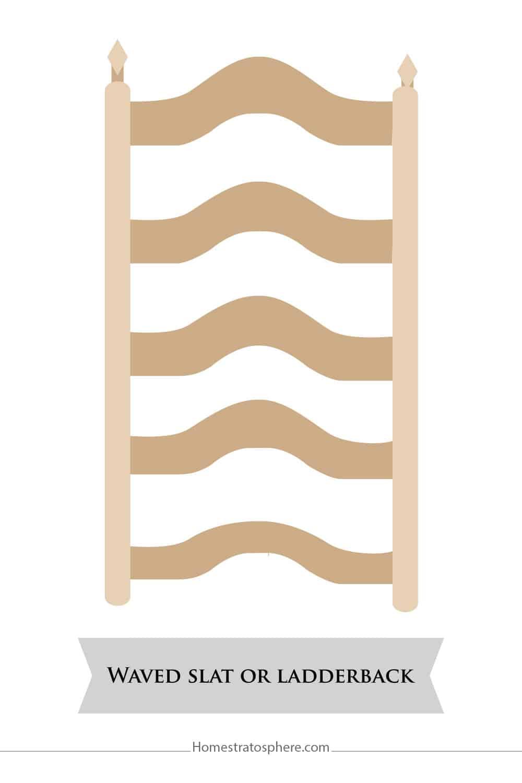 Waved Slat or Ladderback