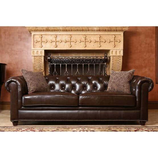 Chocolate Brown Sofa Made Out Of Genuine Leather