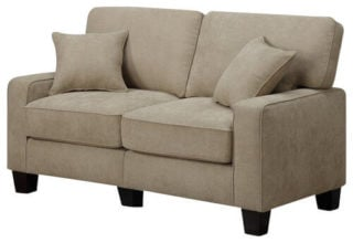 This simple and chunky loveseat with two cushions showcases the real meaning of comfy.