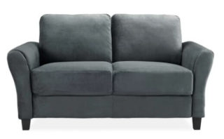 Small loveseat looking sleek, great for a modern type of interior.