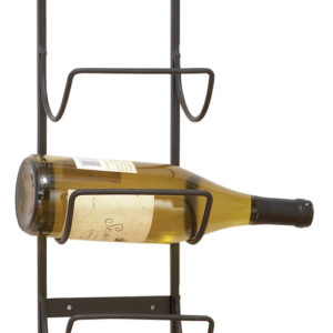 Contemporary wine rack with simple and chic design.