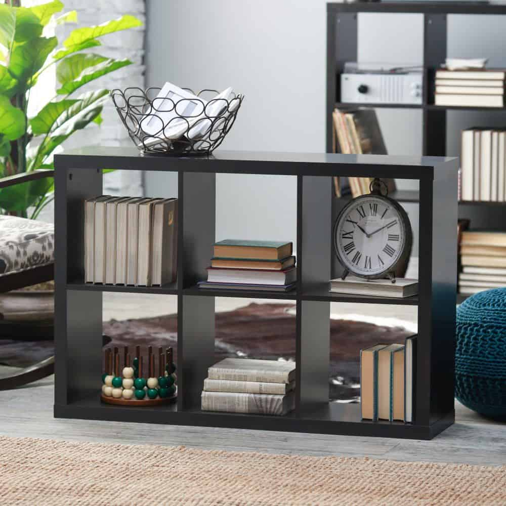 Photo of a small cube bookshelf