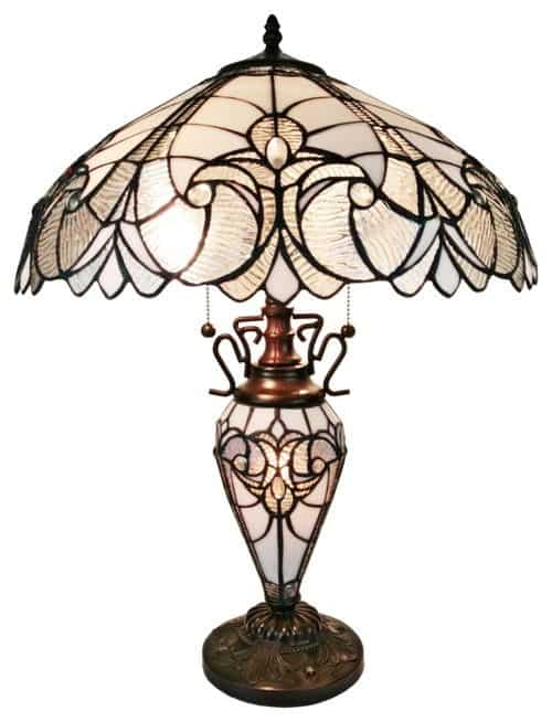 Driscoll tiffany style floral table lamp