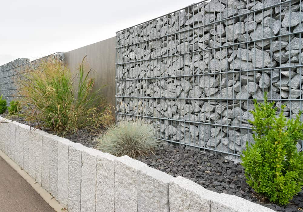 Gabion fence example