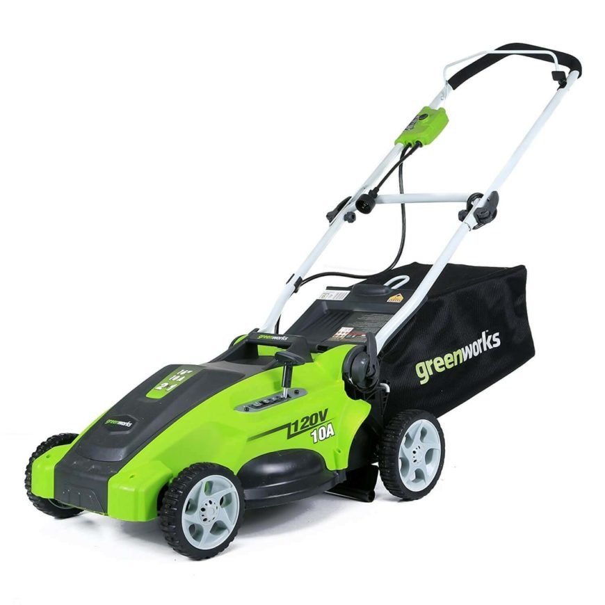 An easy-to-store lawn mower that folds itself when done.