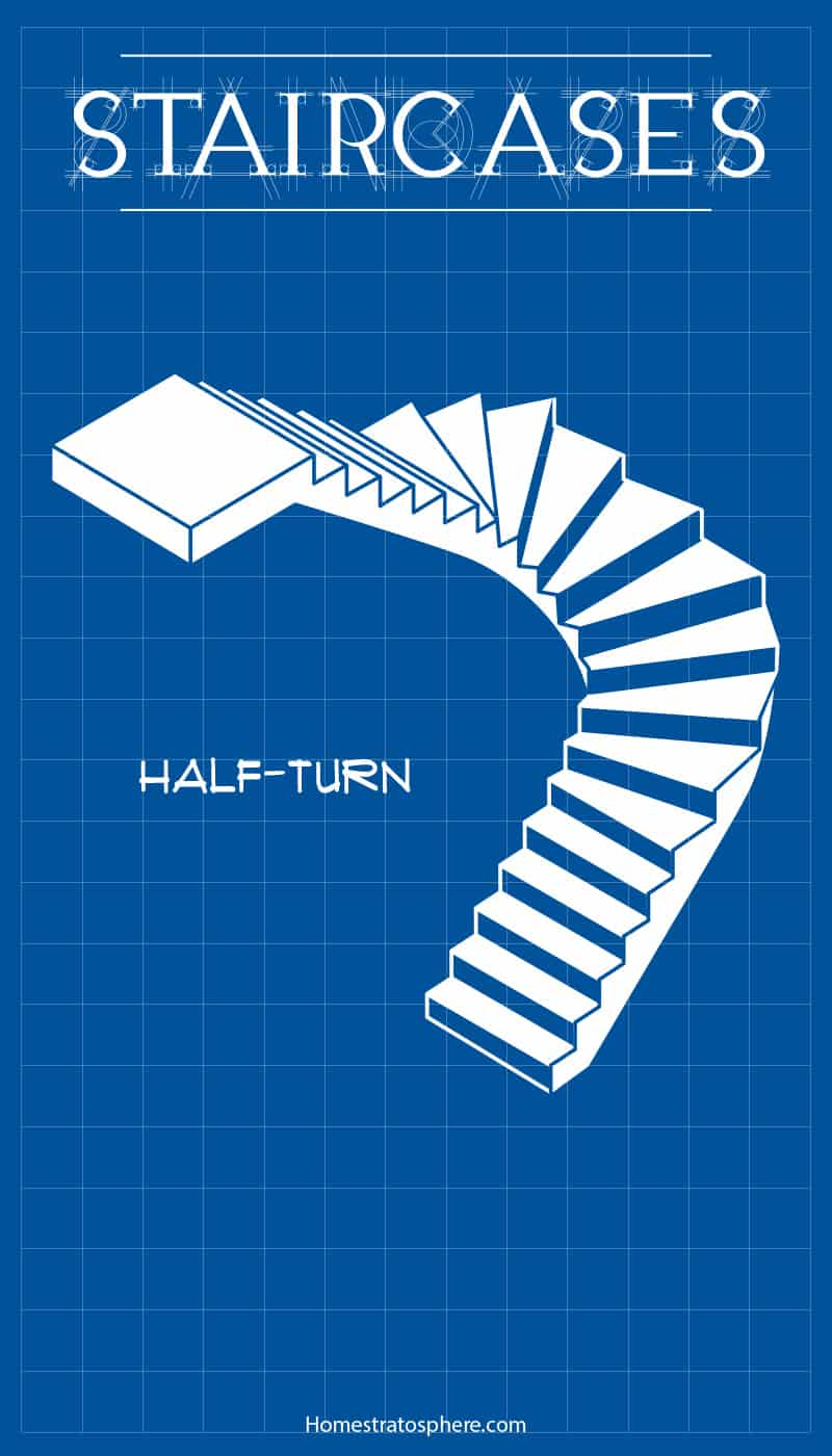 Half-Turn Staircase Diagram