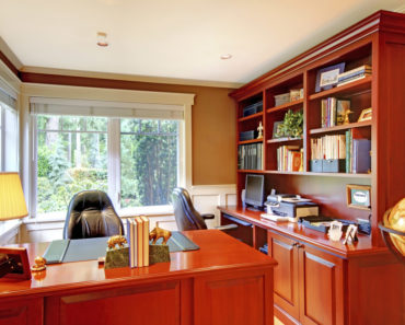 Nice home office with nice furniture