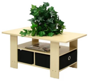 An extra beautiful coffee table but indeed functional with its extra storage.