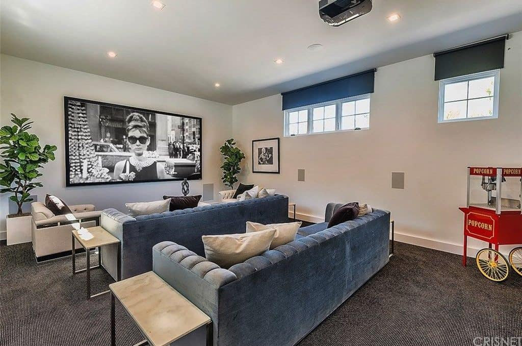 The Mansion Is Not Complete Without The Huge Home Theatre For Family And  Friends. The Room Features A Wide TV, Sectional Sofa And Theatre Seating.