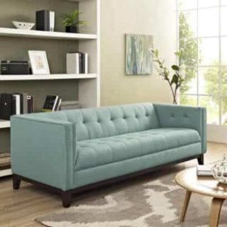 A sofa with a significantly lower weight making it easier to move around.