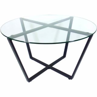 Industrial-style coffee table with its peculiar, unique look.