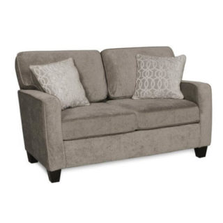 Soft and smooth loveseat and cushions with reversible cases.